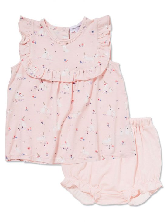 Baby Bunnies Pink Ruffle Top and Bloomer