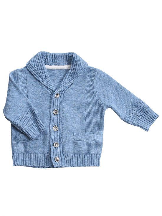 Shawl Collar Cardigan Blue HEeather