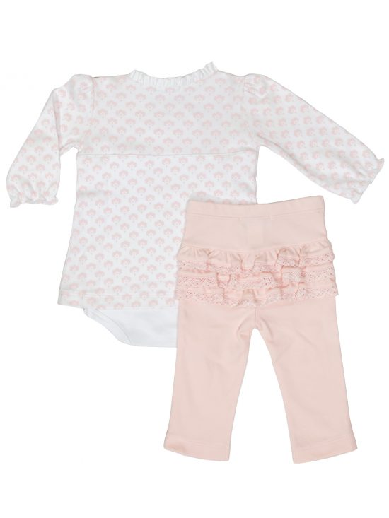 Feather Baby - Back Crossover Twosie Set - Christine Floral Collection - Baby Outfits