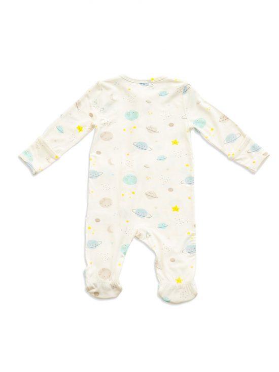Cosmic Wonder Zipper Footie-Angel Dear Baby Clothes back