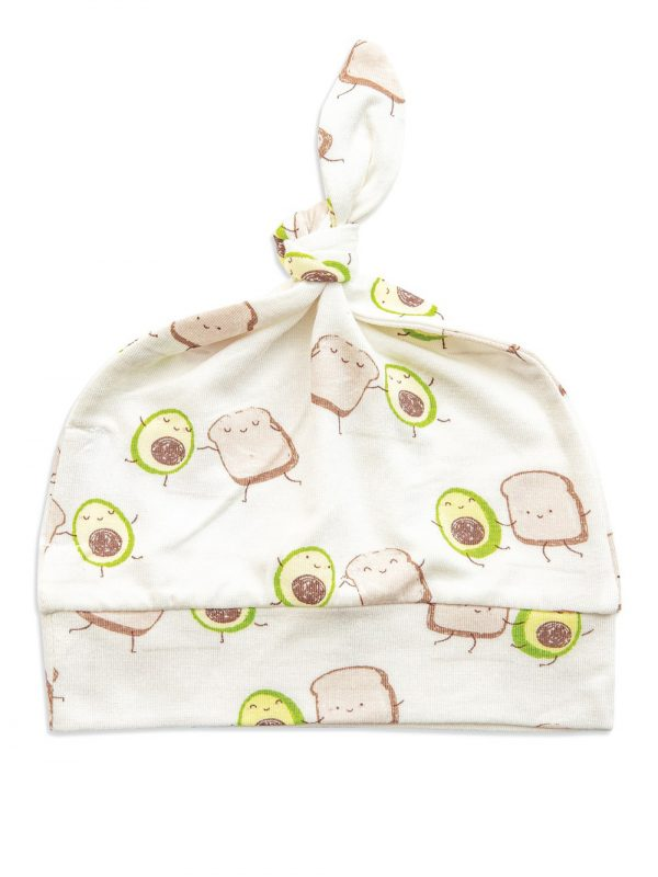 Baby avocado toast knotted hat - cute beanie
